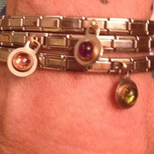 Stainless bracelet trio